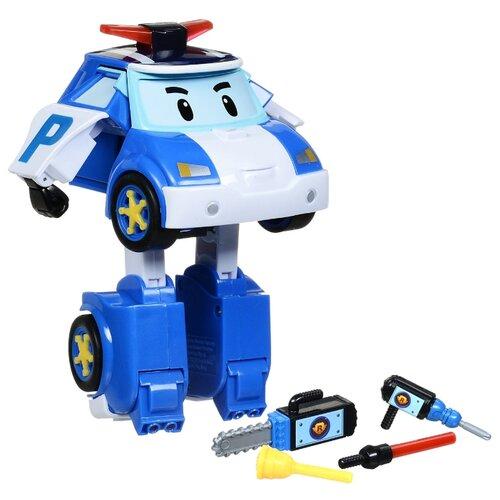 Робот-трансформер Silverlit Robocar Poli 12,5 см с подсветкой и аксессуарами белый/синий трансформер silverlit robocar poli рой 10 см красный