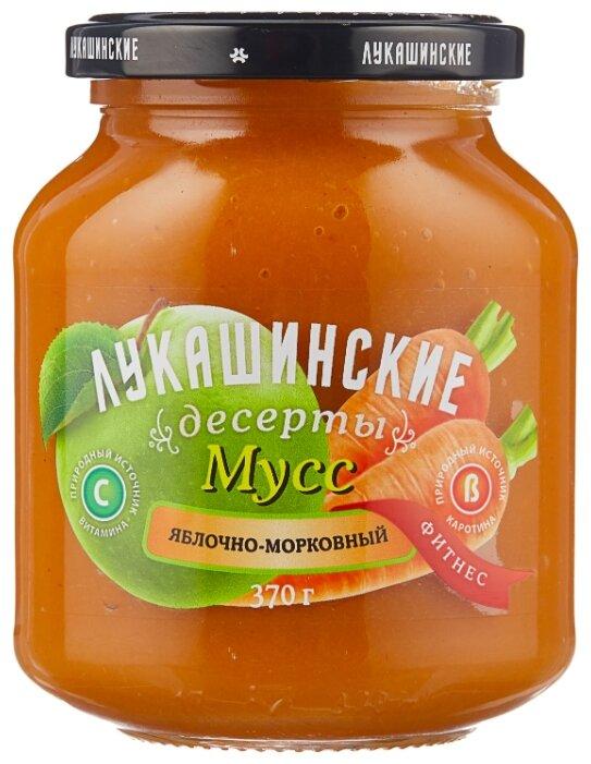 Мусс Лукашинские яблочно-морковный, банка 370 г