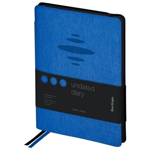 Купить Ежедневник Berlingo Color Zone недатированный, искусственная кожа, А5, 136 листов, синий, Ежедневники, записные книжки