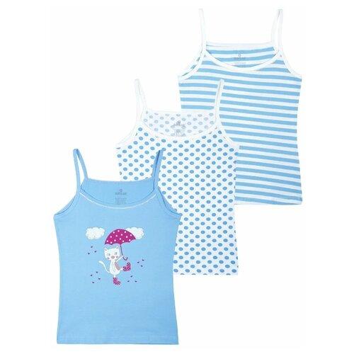 Купить Майка BAYKAR размер 146/152, белый/голубой, Белье и купальники