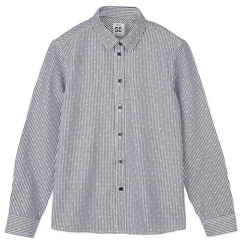 Купить Рубашка playToday размер 128, темно-синий, Рубашки