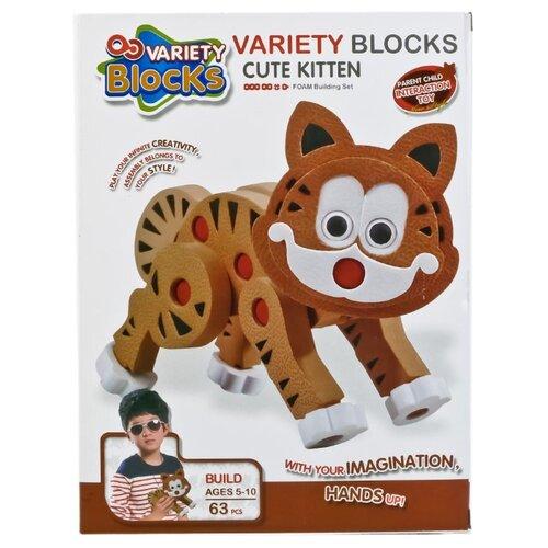 Купить Мягкий конструктор Variety Blocks 3111 Кошка, Конструкторы