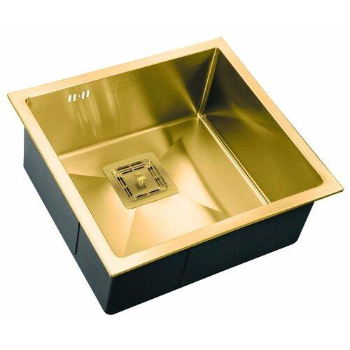 Фото - Врезная кухонная мойка 48 см ZorG PVD SZR-4844 BRONZE бронза врезная кухонная мойка 78 см zorg szr 78 2 51 r bronze бронза
