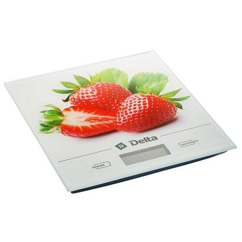 Кухонные весы DELTA КСЕ-29 белый/красный весы кухонные atlanta красный с чашей
