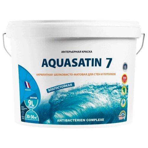Краска акриловая Pragmatic Aquasatin 7 5100BR91 влагостойкая моющаяся матовая 010 9 л флизелиновые обои atlas 24 carat 5059 7