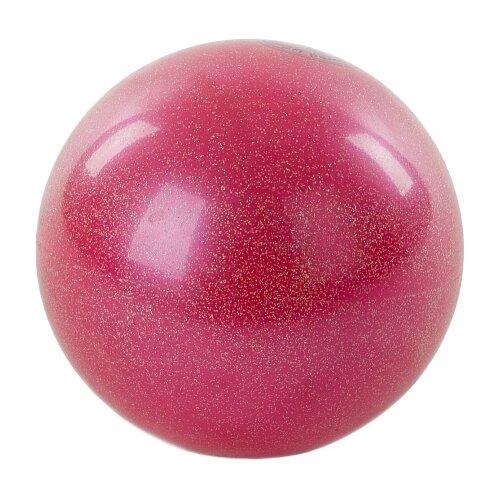 Мяч для художественной гимнастики Larsen AB2801B розовый металлик