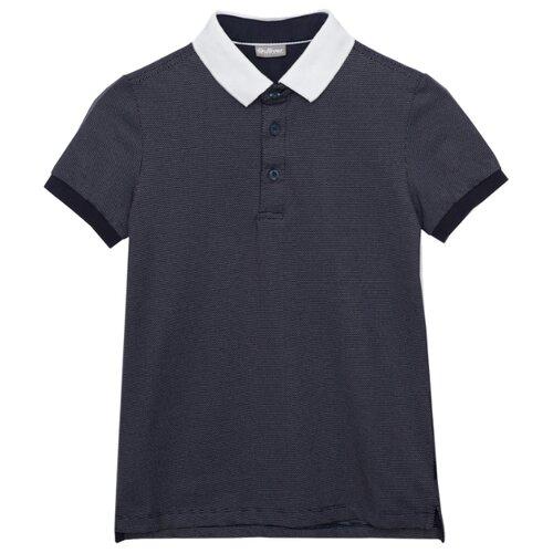 Купить Поло Gulliver размер 122, синий, Футболки и майки