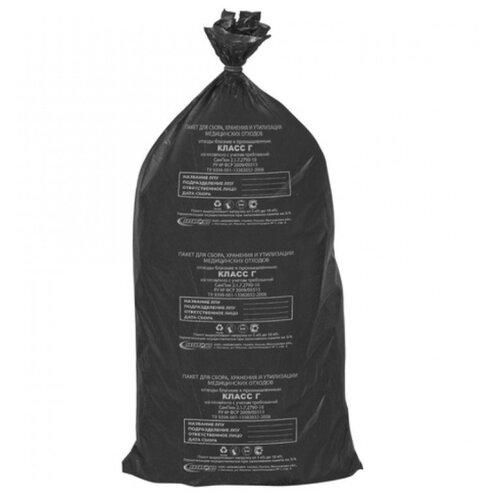 Мешки для мусора Аквикомп Класс Г 100 л (20 шт.) черный 2