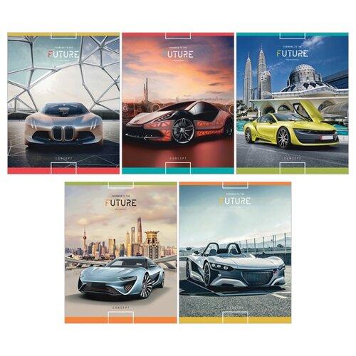 Купить ArtSpace Упаковка тетрадей Авто. Forward to the future Т48к_13665, 10 шт./5 дизайнов, клетка, 48 л., Тетради