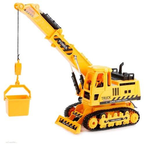 Купить Подъемный кран Hengjian 689-84 1:18 желтый, Радиоуправляемые игрушки