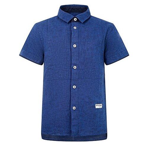 цена Рубашка Paolo Pecora размер 140, синий онлайн в 2017 году