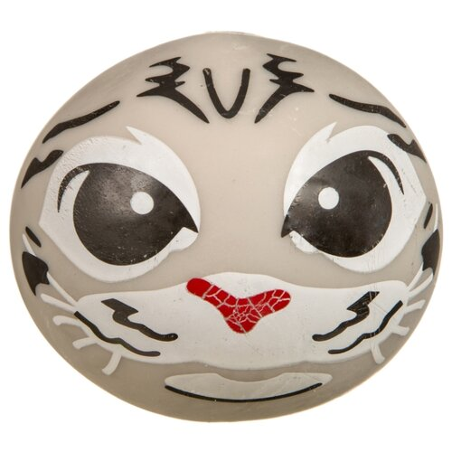 Игрушка-мялка BONDIBON Глазки Котик (ВВ3584) серый