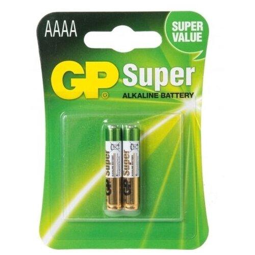 Фото - Батарейка AAAA щелочная GP Super Alkaline в блистере 2 шт батарейка d щелочная perfeo lr20 2bl super alkaline 2 шт