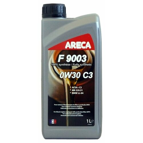 Синтетическое моторное масло Areca F9003 0W30 C3 1 л