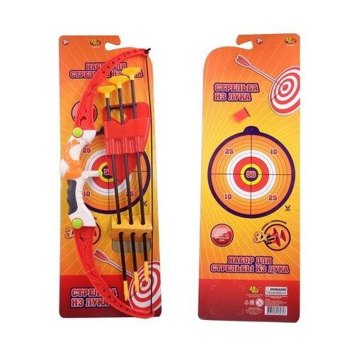 Фото - Лук ABtoys со стрелами на присосках, в наборе 3 стрелы с держателем (S-00161) игровой набор abtoys лук с прицелом s 00052 s 00053