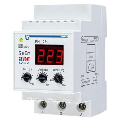 Реле контроля напряжения Новатек-Электро РН-125Т