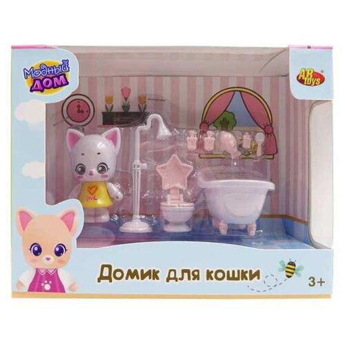 Игровой набор ABtoys Уютный дом - Домик для кошки.Ванная PT-01310