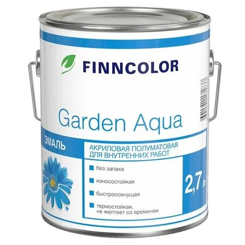 Эмаль акриловая (АК) FINNCOLOR Garden aqua белый 2.7 л