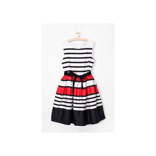 Купить Платье 5.10.15 размер 134, белый, Платья и сарафаны