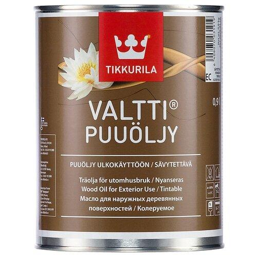 Масло-воск Tikkurila Valtti Puuöljy, бесцветный, 0.9 л
