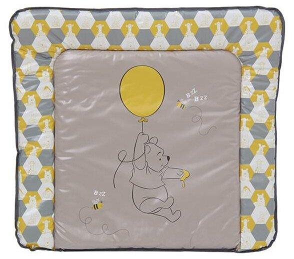 Доска пеленальная мягкая Polini Disney baby Медвежонок Винни и его друзья, макиато-желтый