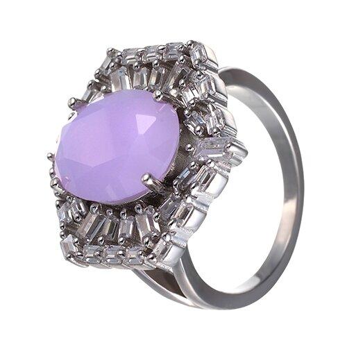 ELEMENT47 Кольцо из серебра 925 пробы с ювелирным стеклом и кубическим цирконием SY-355424-R_004_WG, размер 17