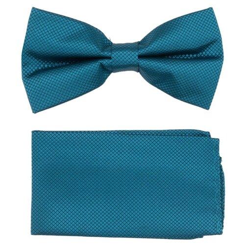 Комплект из 2 предметов OTOKODESIGN галстук-бабочка и платок 537/560 голубой