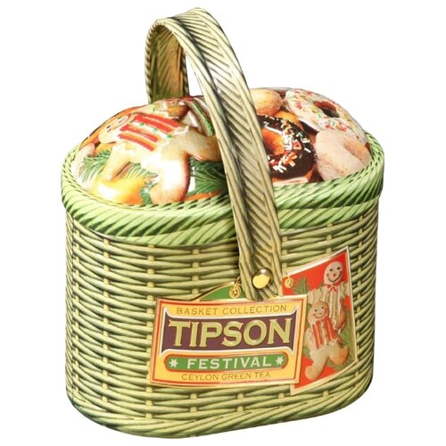 Чай зеленый Tipson Basket collection Festival подарочный набор , 80 г extrabreit festival collection 2 dvd