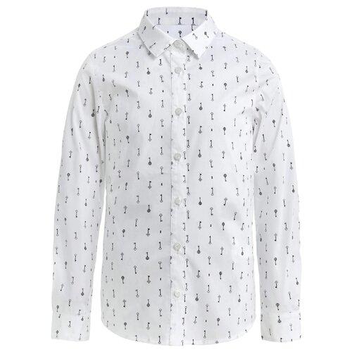 Купить Блузка Gulliver размер 128, белый, Рубашки и блузы