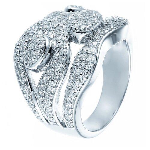 Фото - ELEMENT47 Широкое ювелирное кольцо из серебра 925 пробы с кубическим цирконием YC0044R_KO_001_WG, размер 18 element47 широкое ювелирное кольцо из серебра 925 пробы с кубическим цирконием 05s2azr104804curi 001 wg размер 18