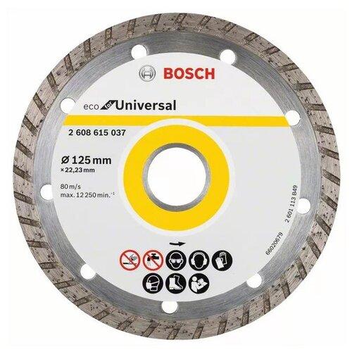 Диск алмазный отрезной 125x22.23 BOSCH Eco for Universal 2 608 615 037 1 шт. диск алмазный bosch 180х22 2мм professional for universal turbo 2 608 602 396