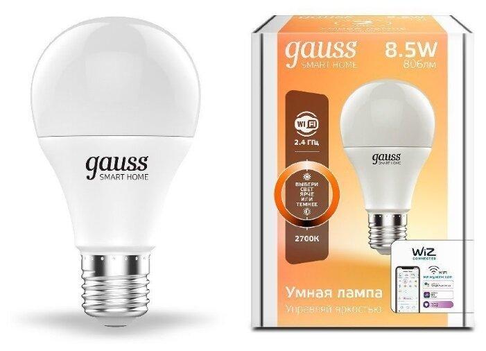 Лампа светодиодная gauss 1050112, E27, A60, 8.5Вт фото 1