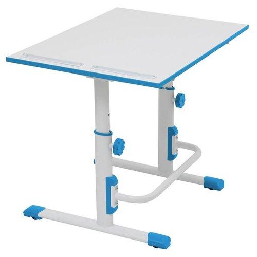 Купить Стол Polini Simple М1 75x55 см белый/синий, Парты и столы