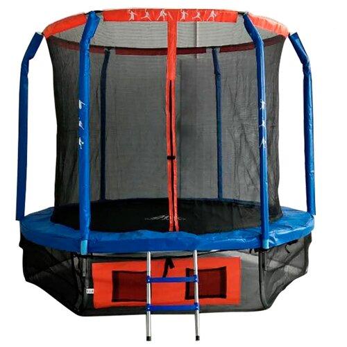 Каркасный батут DFC Jump Basket 8FT-JBSK-B 244х244 см синий/красный каркасный батут dfc jump sun 40inch js b 100х100х22 5 см синий