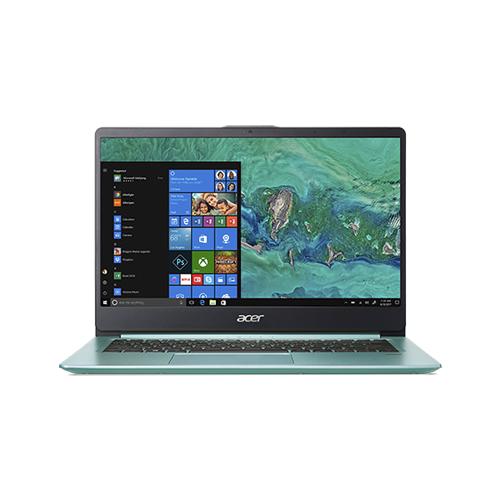 Купить Ноутбук Acer SWIFT 1 SF114-32-P3T4 (Intel Pentium N5000 1100MHz/14 /1920x1080/4GB/256GB SSD/DVD нет/Intel UHD Graphics 605/Wi-Fi/Bluetooth/Windows 10 Home) NX.GZGER.001 зеленый