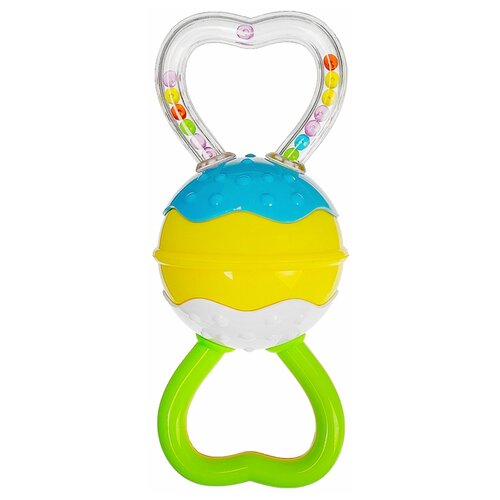 Купить Погремушка Крошка Я Трещотка 2920418 зеленый / желтый / голубой, Погремушки и прорезыватели