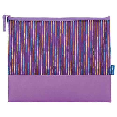 Купить Berlingo Папка для тетрадей на молнии Fantasy А4, ткань фиолетовый, Файлы и папки