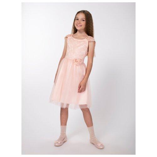 Купить Платье Смена размер 152/76, персиковый, Платья и сарафаны