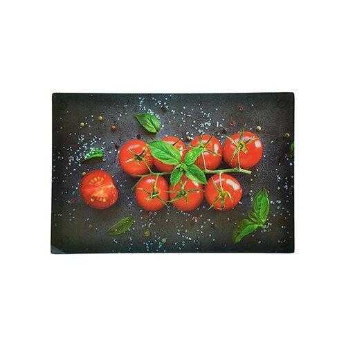 Разделочная доска Vetta 853-193 20х30х0,4 см черный, красный