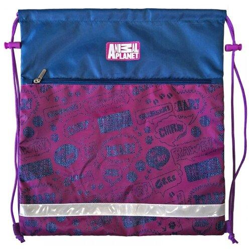 Купить Action! Мешок для обуви Animal Planet (AP-ASS4305/1/18) малиновый/синий, Мешки для обуви и формы