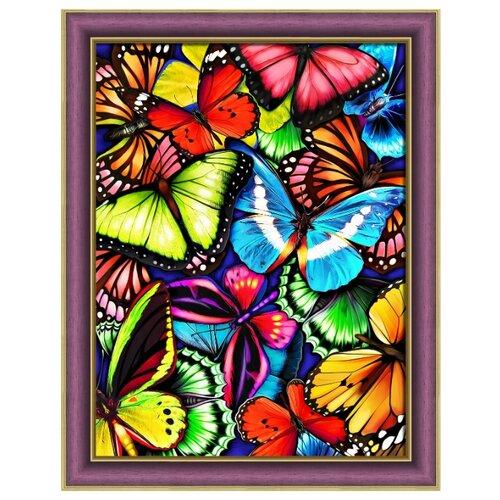 Алмазная живопись Набор алмазной вышивки Яркие бабочки (АЖ-1725) 30х40 алмазная живопись набор алмазной вышивки пылкие маки аж 1510 30х40 см