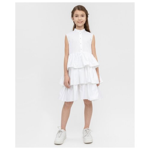 Платье Button Blue размер 146, белый