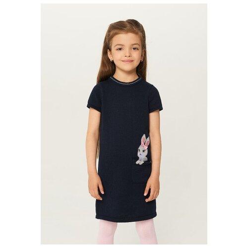 Купить Платье INFUNT размер 146, темно-синий, Платья и сарафаны