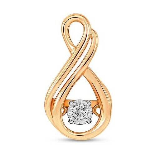 ЛУКАС Подвеска с 1 бриллиантом из красного золота P01-D-33659