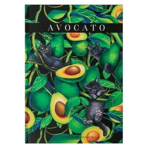 Купить Ежедневник ArtFox Avocato 4909576 недатированный, А5, 80 листов, зеленый, Ежедневники, записные книжки