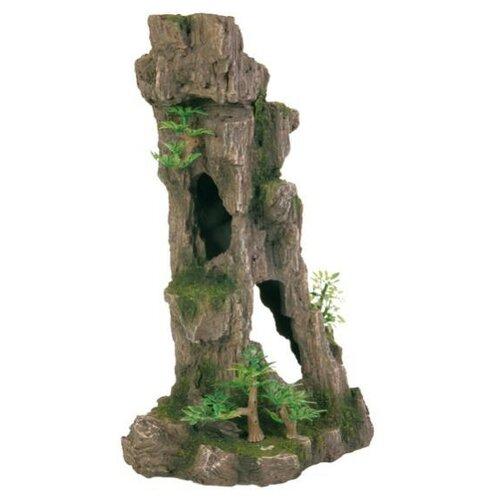 Грот TRIXIE Скала с пещерой с растениями (8857) высота 17 см зеленый/коричневый