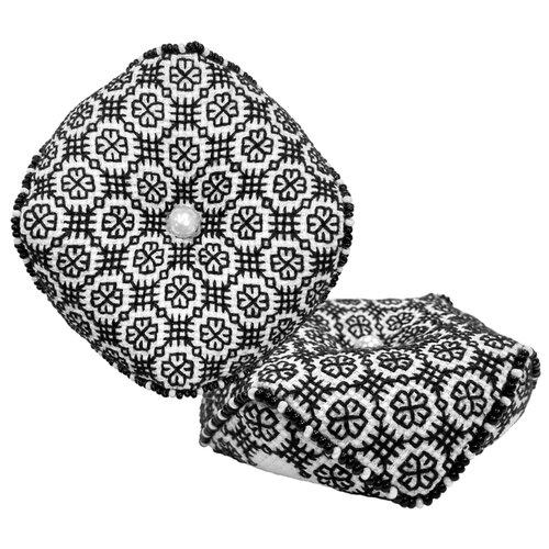 ZENGANA Набор для вышивания бисером и нитками Черное зеркало 8.5 х 8.5 см (М-091)