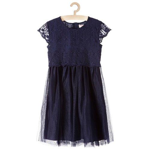 Купить Платье 5.10.15 размер 134, синий, Платья и сарафаны