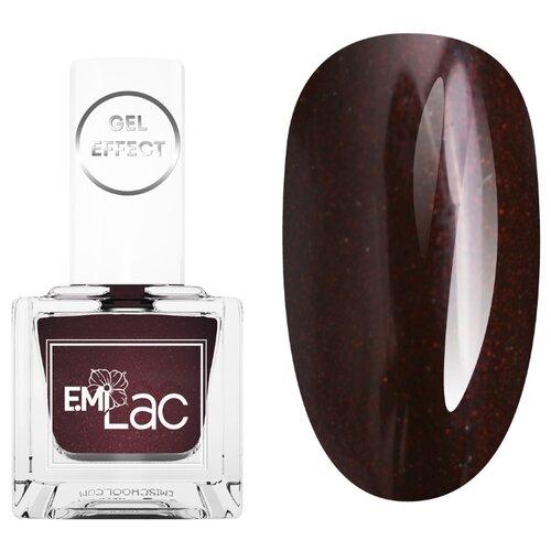 Лак E.Mi Gel Effect Fashion Queen, 9 мл, оттенок 078 Горький шоколад лак e mi gel effect charming date 9 мл оттенок 051 бермуды