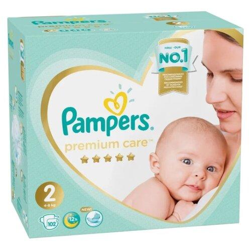 Купить Pampers подгузники Premium Care 2 (4-8 кг) 102 шт., Подгузники